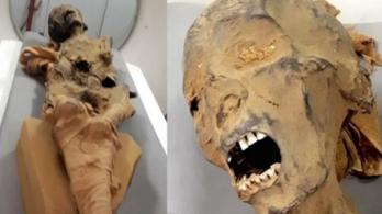 Szívrohamban halt meg a női sikító múmia