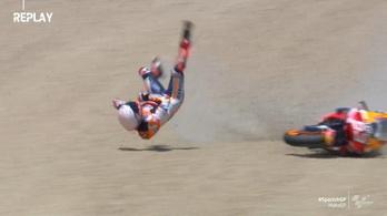 Hatalmasat bukott a MotoGP címvédője a szezonnyitón, operálni kell