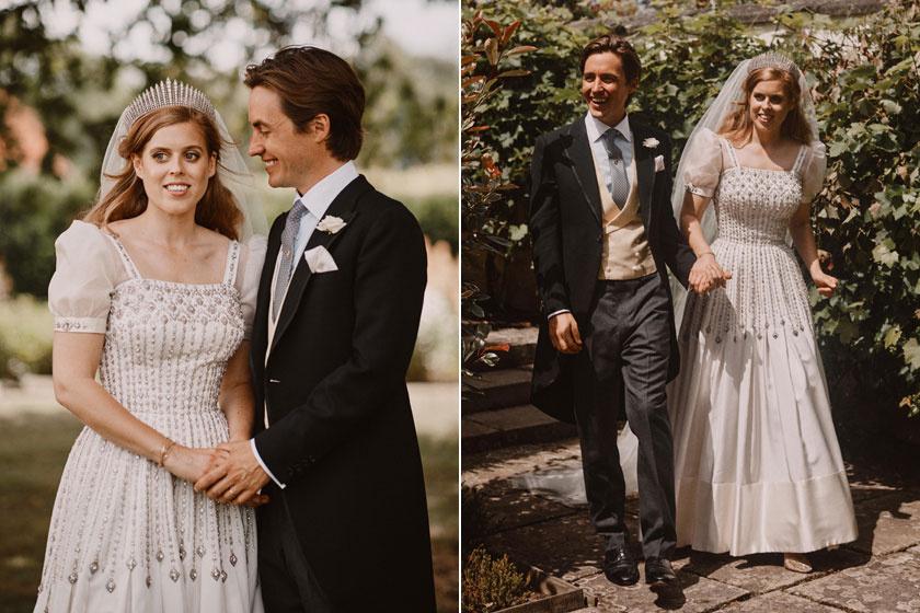 Beatrice hercegnő nagyon csinos volt ebben a vintage stílusú menyasszonyi ruhában.