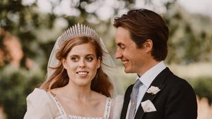 Fotók: Beatrix hercegnő a királynő ruhájában és fejdíszével ment férjhez
