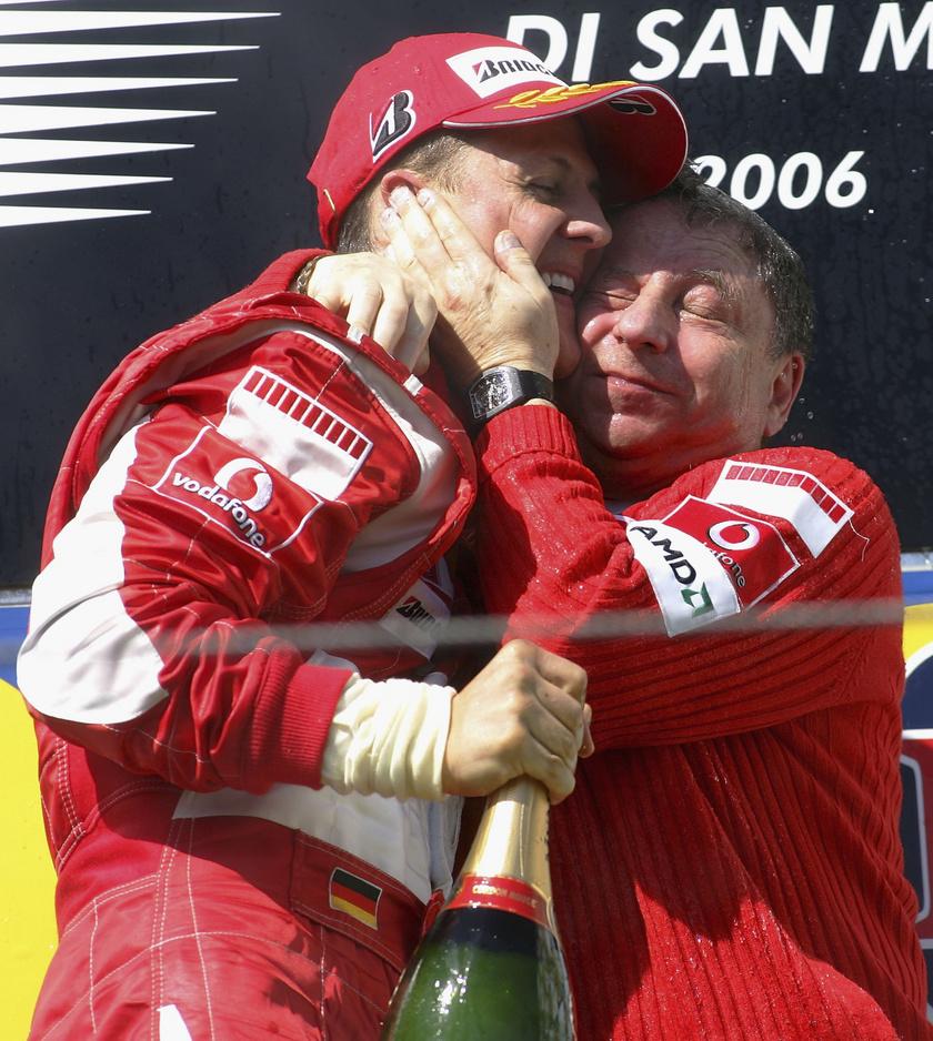Schumacher és Jean Todt.