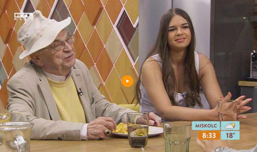 Bodrogi Gyula és unokája, Enikő az RTL Klub Reggeli 2020. július 20-i adásában.