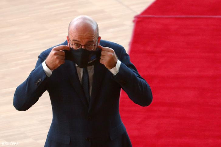 Charles Michel, a tanács elnöke az EU-csúcson.