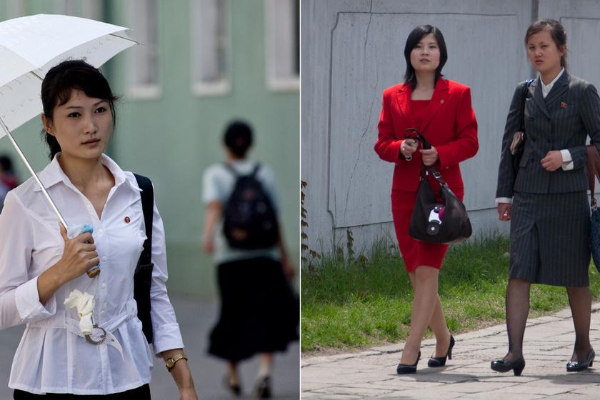 Hogy öltözködhetnek a nők Észak-Koreában? Néhány ruhadarabot tilos viselniük