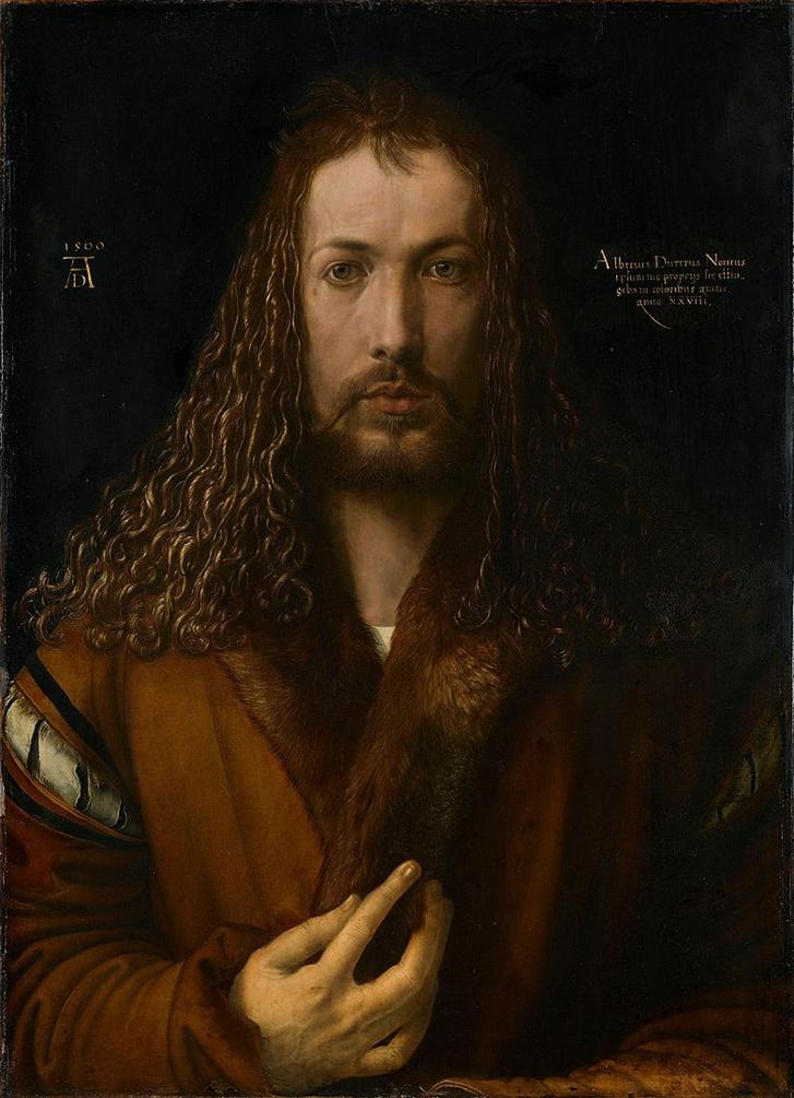 Önarckép, 1500, Albrecht Dürer.