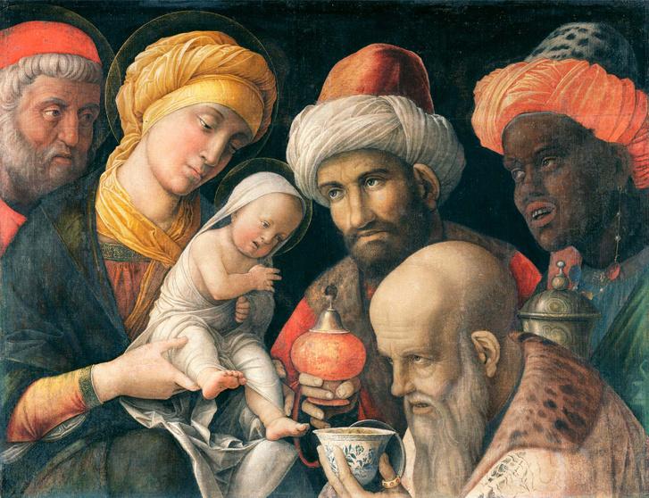 Háromkirályok imádása, 1505, Andrea Mantegna.