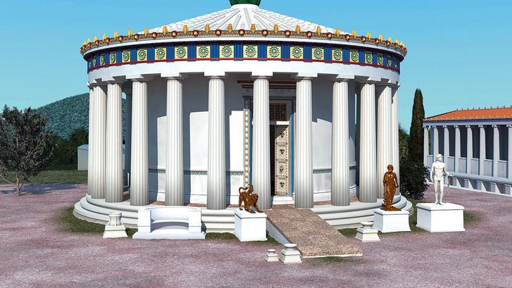 Az epidauruszi Aszklépiusz-szentély rekontrukciója