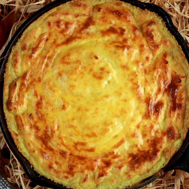 Laktató, sós pite sajttal és sonkával töltve – Krémesre tört krumpli a tésztája