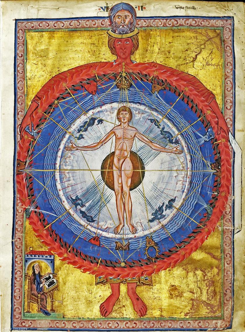A kozmikus szférák és az ember - Látomás a Liber Divinorum Operumból.
