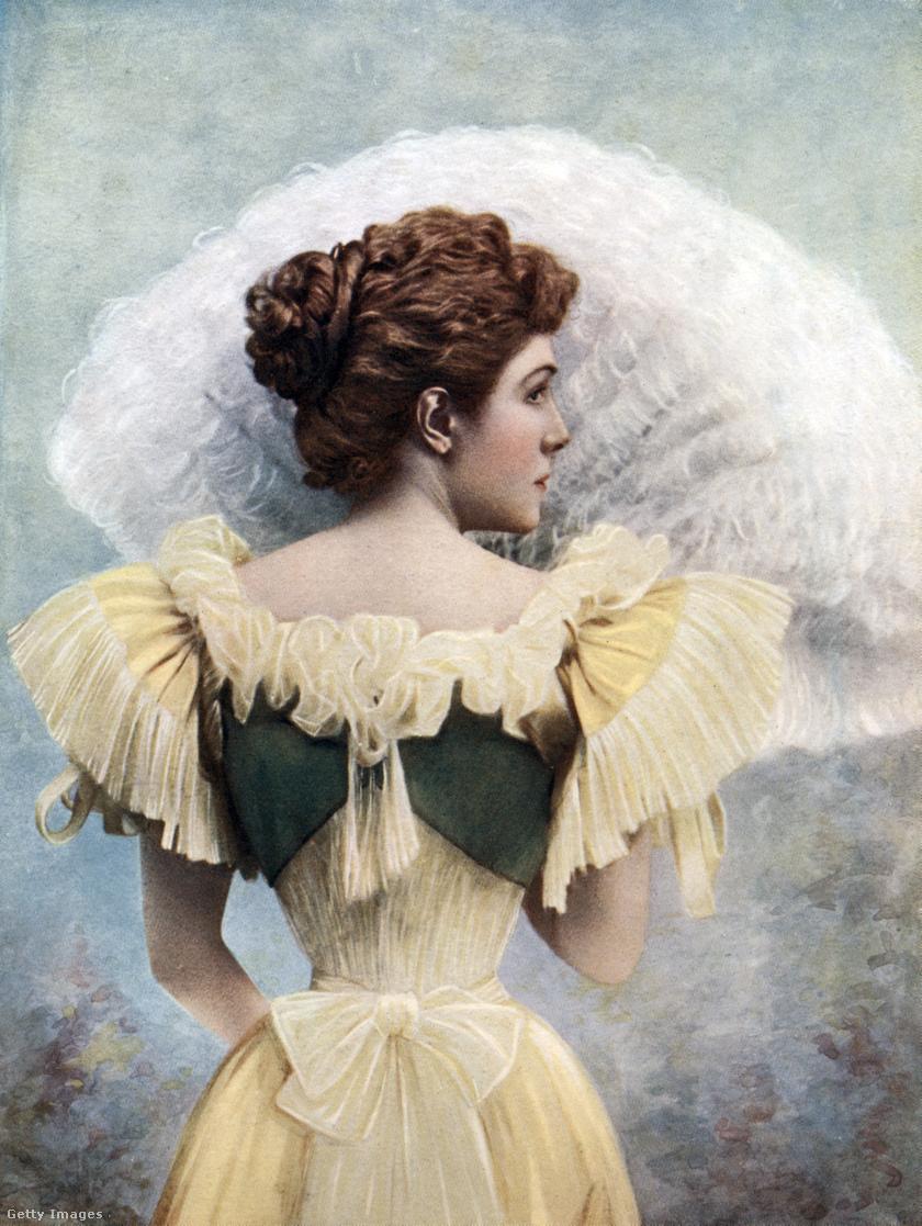 A viktoriánus korban a legtöbbször fűzőben mozogtak a nők.