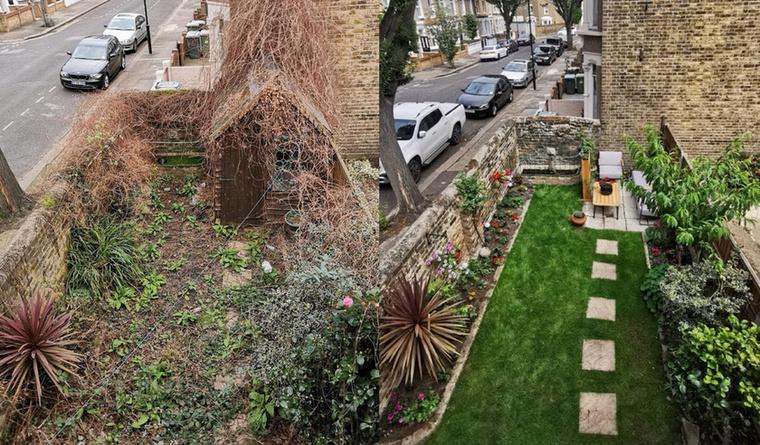 Ez aztán a látványos átalakulás, a kert tulajdonosa alaposan leizzadhatott munka közben, de legalább megérte.