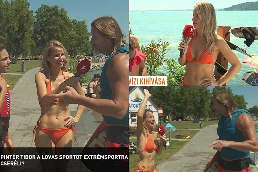 Mádai Vivien egy narancsszínű bikiniben jelentkezett be a Mokka július 22-i adásába. Kirobbanó formában van.