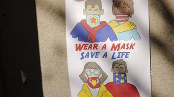 Több amerikai államban kötelezővé tették az utcán is a szájmaszkot
