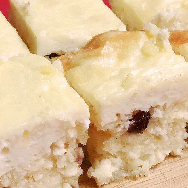Villámgyors kevert túrós süti áfonyával gazdagítva – Alig van liszt a tésztájában