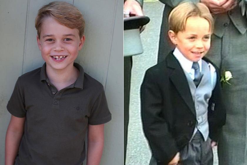 A hétéves György herceg egy az egyben úgy néz ki, mint James Middleton ezen az 1992-es képen.