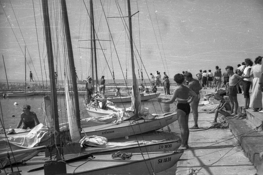 Balatonföldvár, kikötő (1958)