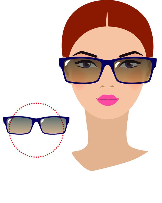 Kerek arcformához az élesebb vonalakkal rendelkező napszemüvegek passzolnak a legjobban. Ebben az esetben tökéletes választás egy téglalap, négyzet alakú darab, de a most divatos, '90-es éveket idéző vékony, macskaszem formájú változatok is illenek hozzá.