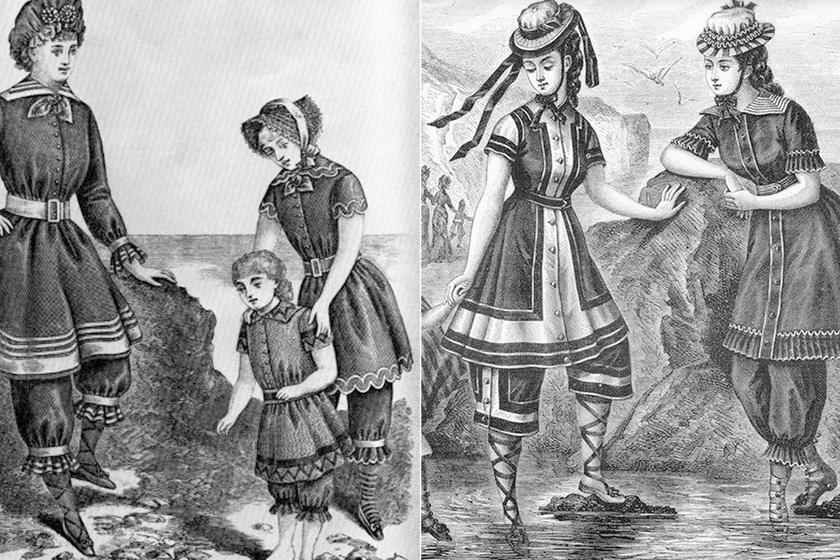 Miben strandoltak a 18-19. századi asszonyok? Fürdőruháik kicsit sem hasonlítottak a mai darabokhoz