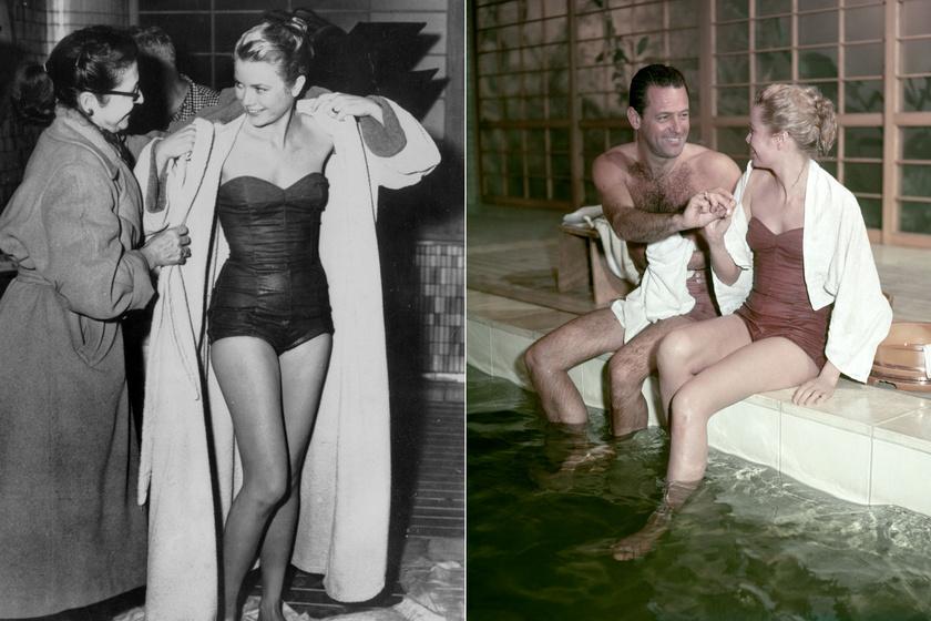 1955-ben ebben a bordó egyberészesben mutatta meg karcsú alakját William Holden oldalán a Toko-ri hídjaiban.