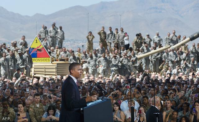 Barack Obama a hadsereg tagjanak tart beszédet a texasi Fort Blissben