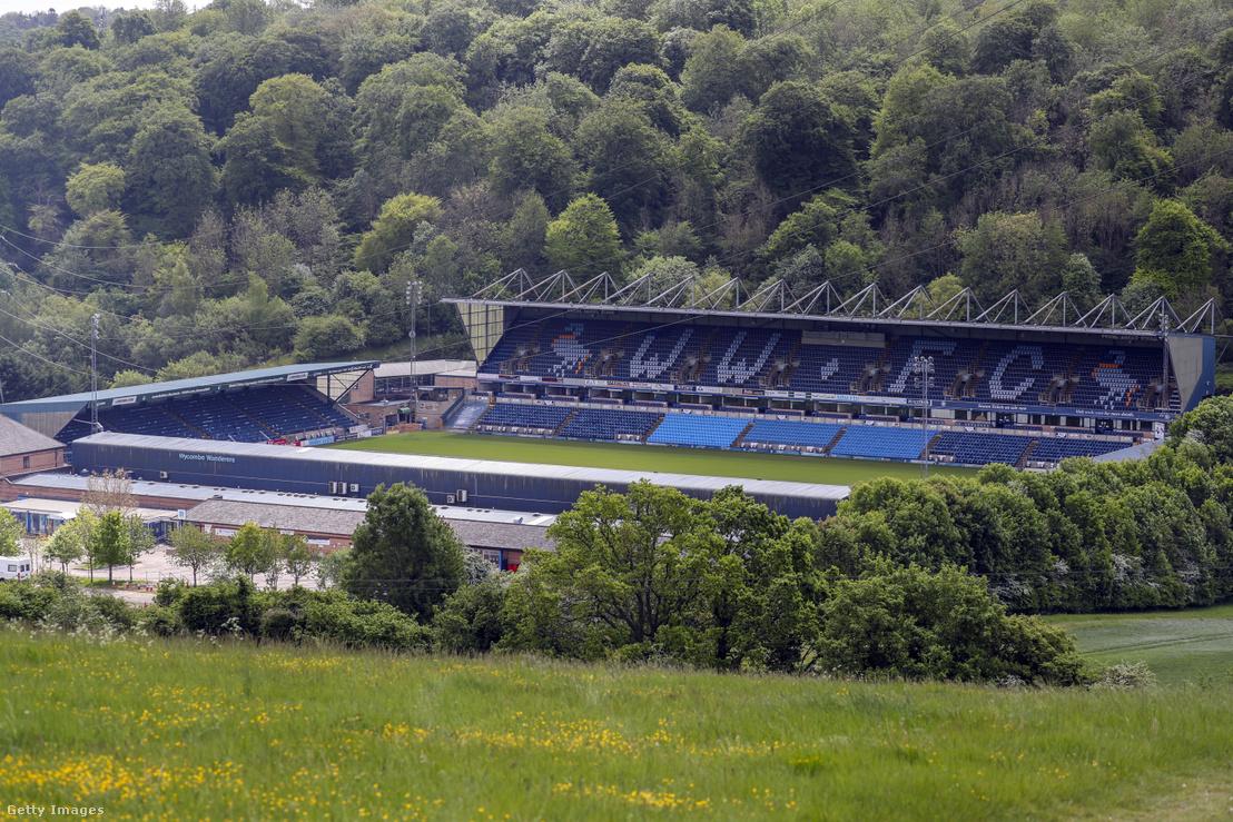 A Wycombe Wanderers stadionja Buckinghamshire megyében