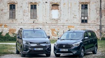 Összehasonlítás: Toyota Proace City Verso Family, Dacia Lodgy