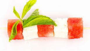 Citromfüves görögdinnye-caprese mézes öntettel