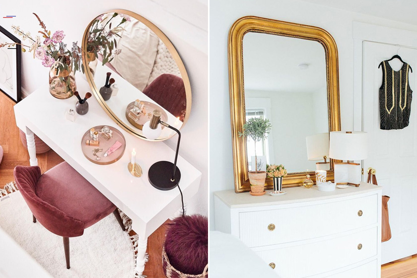 Fesd be a régi, fakeretes tükröt, vagy vásárolj egyet a bolhapiacon: meghatározó, elegáns darabja lesz a lakásnak. Ha nem a fürdőbe kerül, akkor lakkozni sem kell.