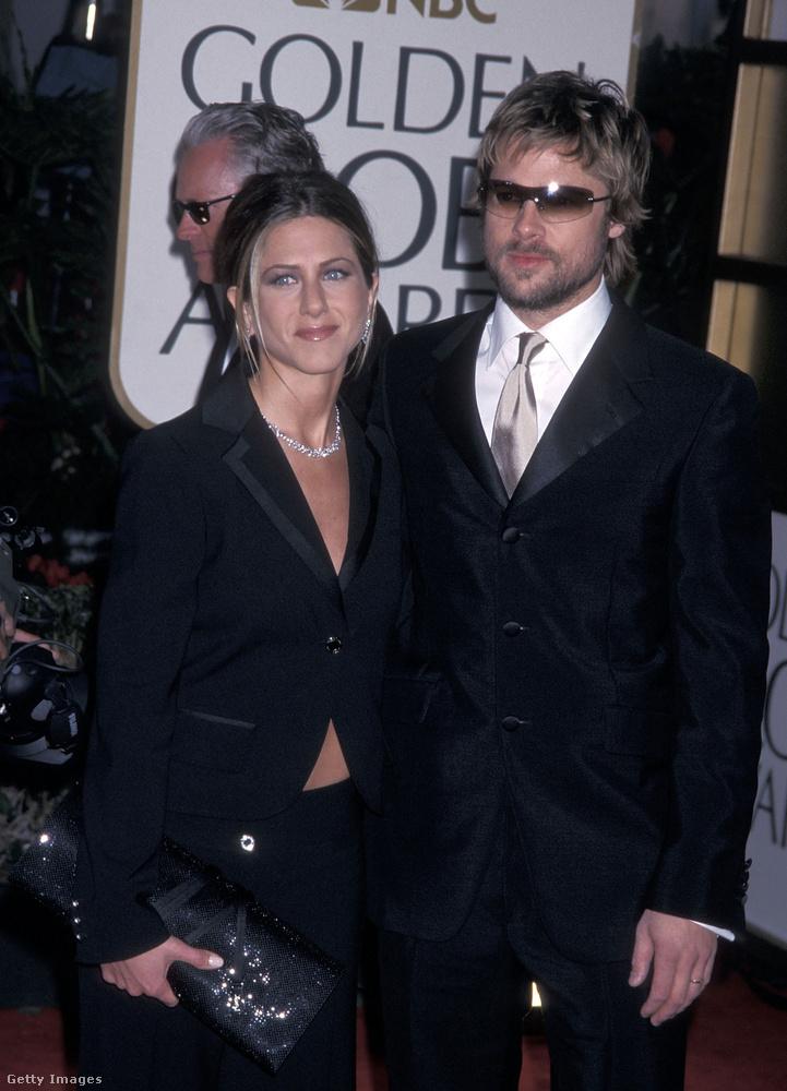 2002 januárjában így rittyentettek ki Pitték a Golden Globe-kiosztóra, és ekkoriban az volt róluk a fáma, hogy végre egy szimpatikus és menő és tényleg szerelmes hollywoodi sztárpár, akiknek, úgy tűnik, kitart majd a házassága.