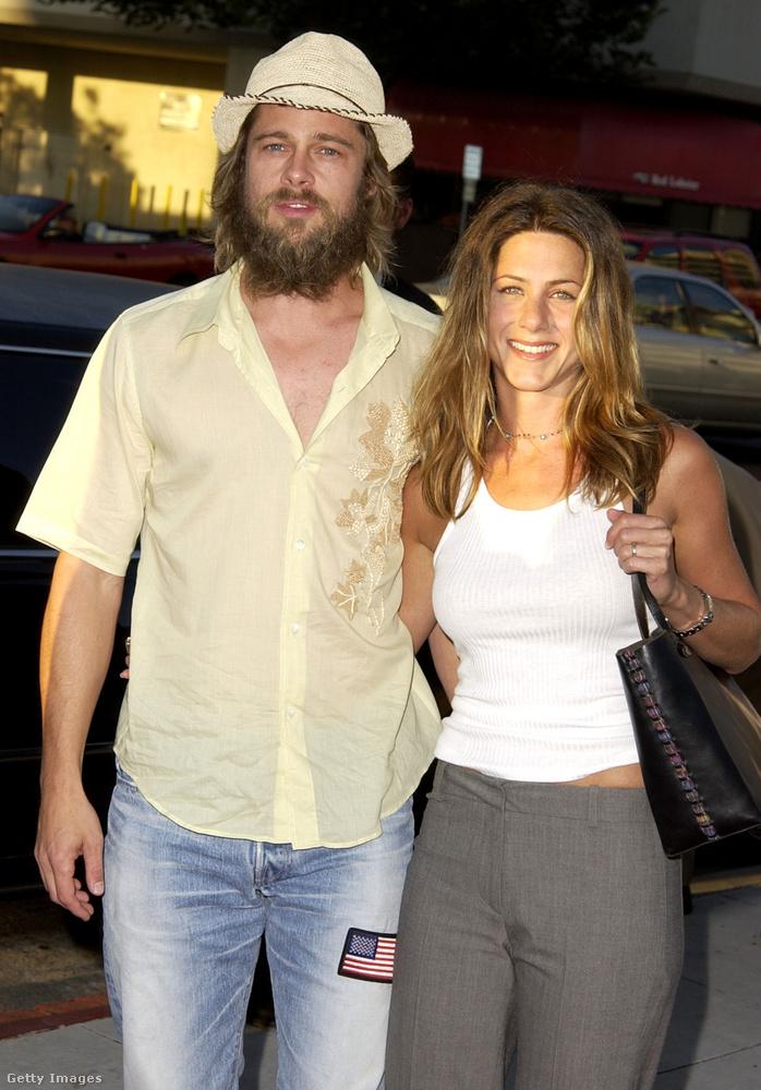 Ez a kép 2002 júliusában készült, amikor a jelek szerint Brad Pittet meggyűlölte a stylistja, Jennifer Anistoné pedig szabadságra ment.