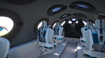 Bemutatták a Virgin Galactic utasszállító űrhajójának belsejét
