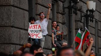 Megbénították Szófia forgalmát a kormány ellen tüntetők