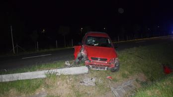 Ittas sofőr 8 éves fia sérült meg egy balesetben