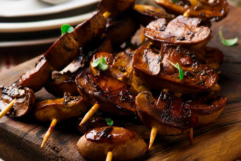 Balzsamecetes szószban grillezett gombanyárs  – Könnyed, mégis laktató húspótló