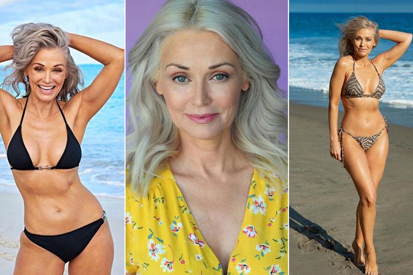Az 56 éves bikinimodell fotóiért rajonganak a netezők - A 160 centi magas Kathy igazi bombázó