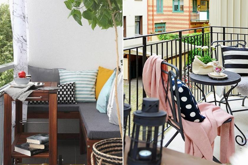 Szerezz be néhány vidám díszpárnahuzatot kedvenc színeiddel, trendi mintákkal. Varázsütésre átváltoztatja erkélyed.