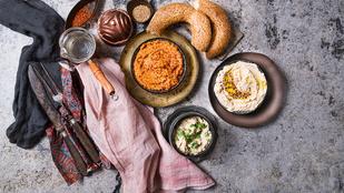 Finomságok a deszkán: padlizsánkrém (glutén-, tej-, tojásmentes, vegán recept)