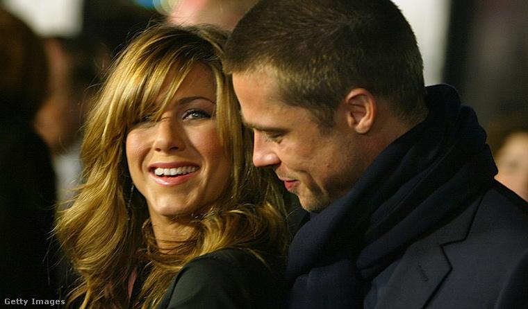 Jennifer Aniston és Brad Pitt 2004-ben.