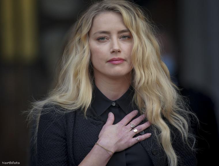 Ez a kép kedden készült Londonban Amber Heardről, amint a végéhez közeledett a pere volt férjével, Johnny Deppel