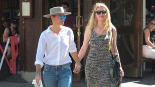 Amber Heard a tárgyalások után romantikázott egyet a barátnőjével Londonban