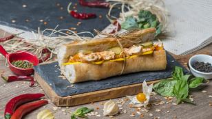 Csirkemelles szendvics olívás fetakrémmel – hamburger görög hangulatban