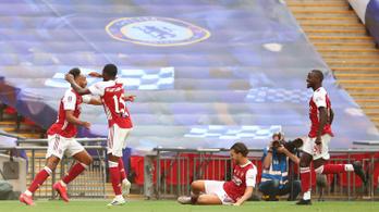 Aubameyang nyerte meg az Arsenalnak a 14. FA-kupát