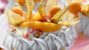 Nagyon nyári desszert: Pavlova grillezett nektarinnal és limoncellóval