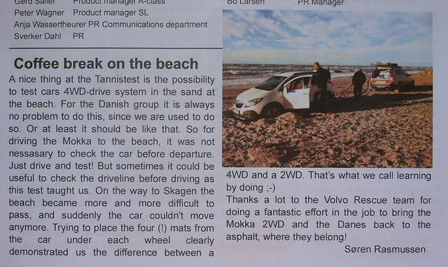 Mokka a homokban, pedig annyira összkerekesnek néz ki. A Tannistest napi hírlevelében is beszámoltak a mentőakcióról