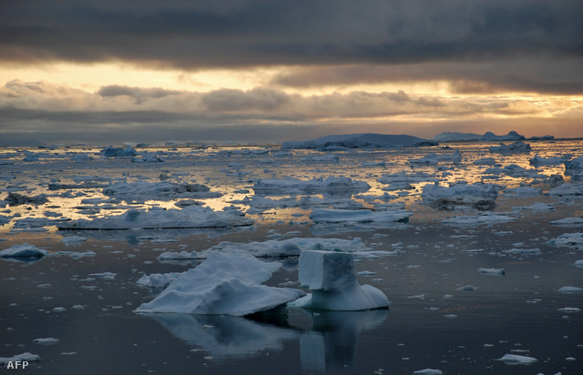Az Ilulissat fjord Grönlandnál