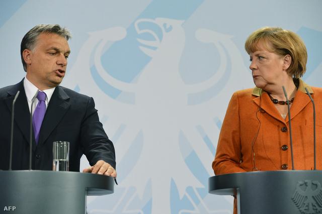 Orbán Viktor a német kancellári hivatalban