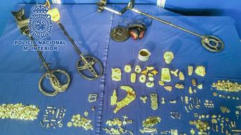 Ókori kincseket foglaltak le a spanyol hatóságok egy fosztogatónál