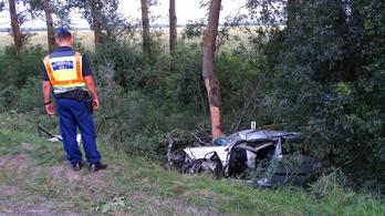 Meghalt egy autós, aki fának ütközött Békésben