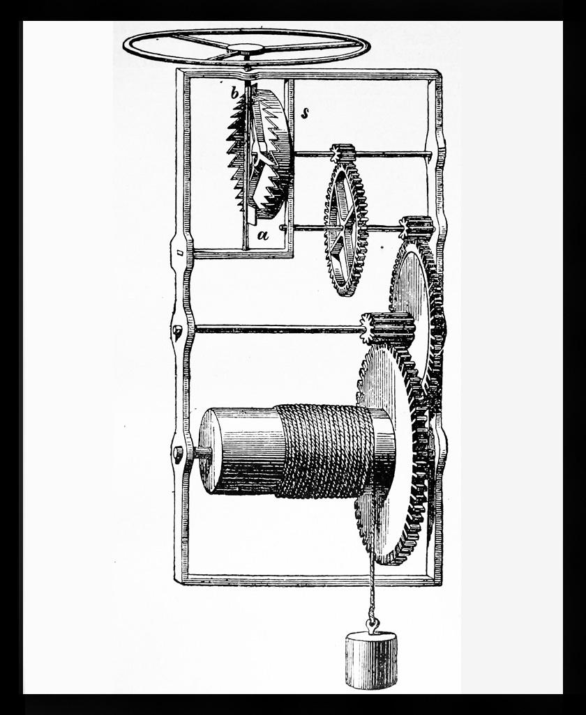 A mechanikus óra szerkezete.