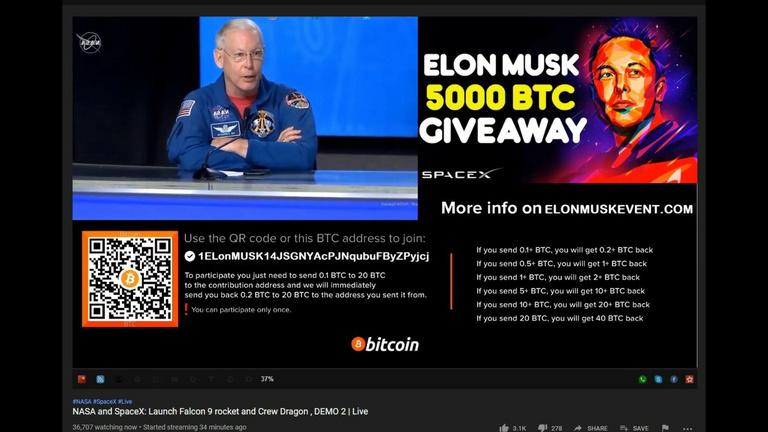 Youtube-on támadnak a bitcoinos csalók